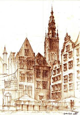 Gdansk Town  Hall Poster by Krystian  Wozniak