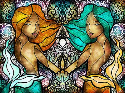 Gemini Poster by Mandie Manzano