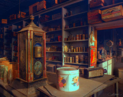 General Store For Canvas Poster by Lar Matre