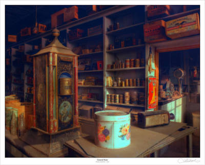 General Store Poster by Lar Matre
