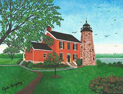 Genesee Lighthouse-rochester-ny Poster by Cyndi Kingsley