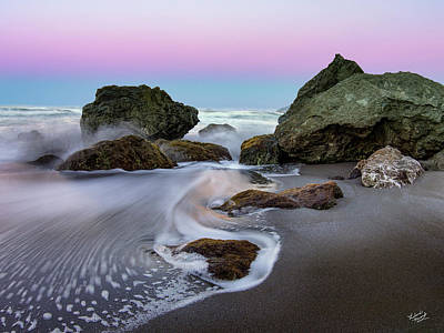 Gentle Waves Poster by Leland D Howard