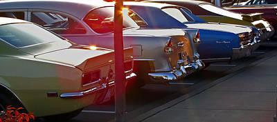 Gentlemen Stop Your Engines Poster by Gary Adkins