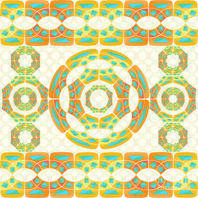 Geometric Composition Poster by Gaspar Avila
