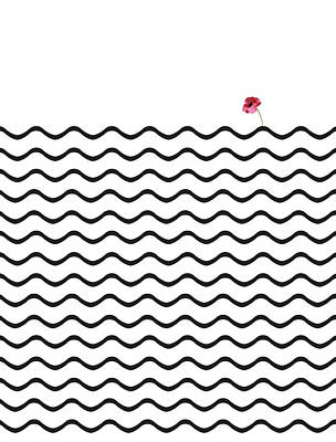 Geometric Roundwaves Flower Poster by Francisco Valle