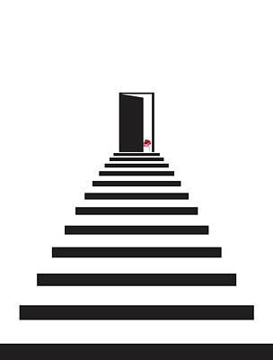Geometric Stairs Flower Poster by Francisco Valle
