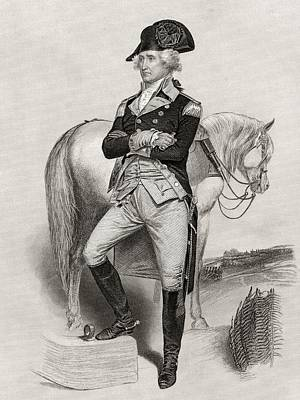 George Washington 1732 To 1799 In 1775 Poster by Vintage Design Pics