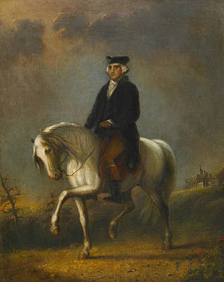 George Washington At Mount Vernon Poster by Alfred Jacob Miller