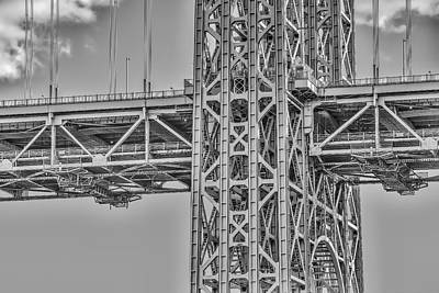 George Washington Bridge Steel Poster by Susan Candelario