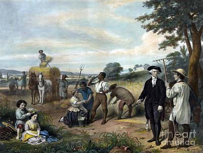 George Washington, Gentleman Farmer Poster by Science Source