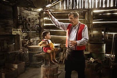 Geppetto's Workshop Poster by Karen Alsop