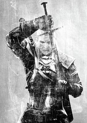 Geralt Of Rivia Poster by Semih Yurdabak