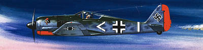 German Aircraft Of World War Two Focke Wulf Fighter Poster by Wilf Hardy