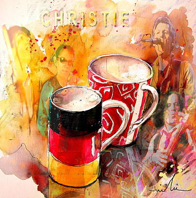 German Mugs And Christie Poster by Miki De Goodaboom