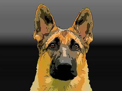 German Shepherd Poster by Alexey Bazhan