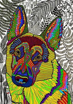 German Shepherd Dog Poster by Please Draw My Dog