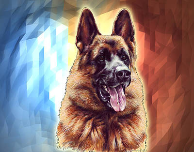 German Shepherds Greatness Poster by Maria C Martinez
