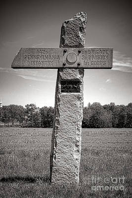 Gettysburg National Park 142nd Pennsylvania Infantry Monument Poster by Olivier Le Queinec