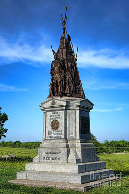 Gettysburg National Park 42nd New York Infantry Memorial Poster by Olivier Le Queinec