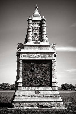 Gettysburg National Park 6th New York Cavalry Monument Poster by Olivier Le Queinec