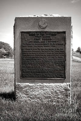 Gettysburg National Park Army Of The Potomac First Division Monument Poster by Olivier Le Queinec