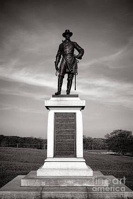 Gettysburg National Park Brigadier General Alexander Webb Monument Poster by Olivier Le Queinec
