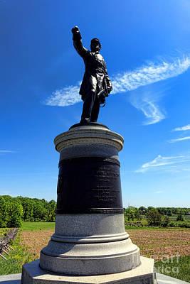 Gettysburg National Park James Samuel Wadsworth Memorial Poster by Olivier Le Queinec