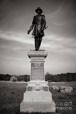 Gettysburg National Park John Gibbon Monument Poster by Olivier Le Queinec