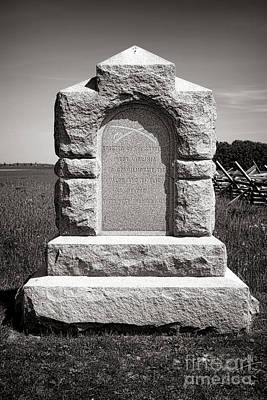 Gettysburg National Park Third West Virginia Cavalry Monument Poster by Olivier Le Queinec
