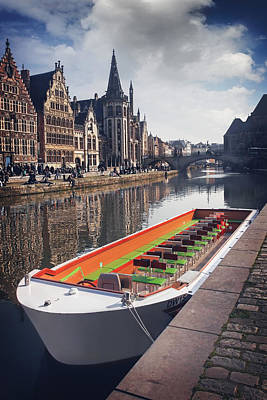Ghent By Boat Poster by Carol Japp