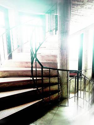 Ghost Stairway Poster by Ksenia VanderHoff
