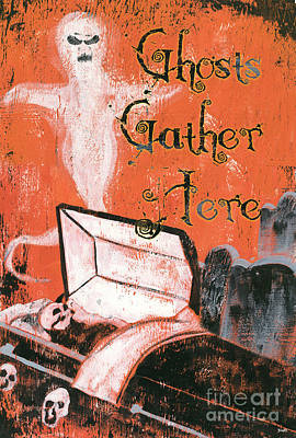 Ghosts Gather Here Poster by Debbie DeWitt