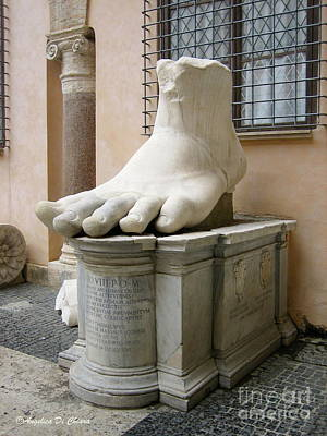 Giant Foot Poster by Italian Art
