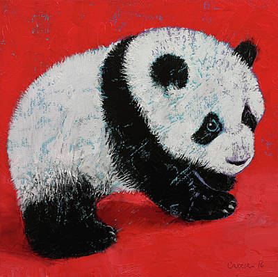 Giant Panda Cub Poster by Michael Creese