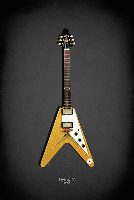 Gibson Flying V Poster by Mark Rogan