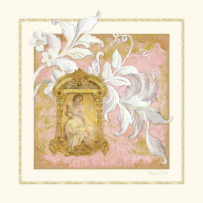 Gilded Age I - Baroque Rococo Palace Ceiling Inspired  Poster by Audrey Jeanne Roberts