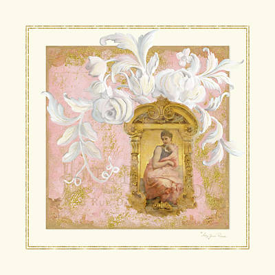 Gilded Age II - Baroque Rococo Palace Ceiling Inspired Poster by Audrey Jeanne Roberts