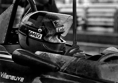 Gilles Villeneuve 1950-1982 Poster by Mike Flynn