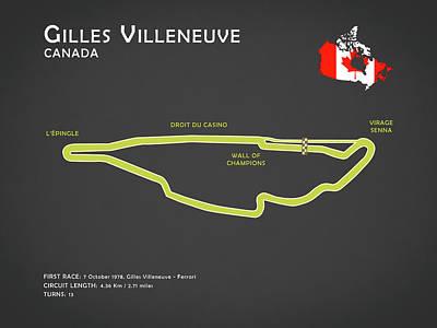 Gilles Villeneuve Poster by Mark Rogan