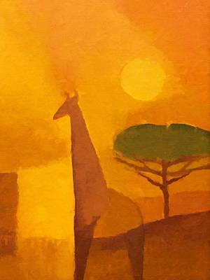 Giraffe Poster by Lutz Baar