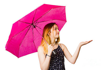 Girl Feeling The Rain When Living In The Moment Poster by Jorgo Photography - Wall Art Gallery