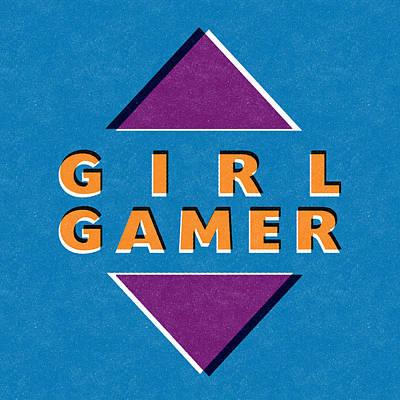Girl Gamer Poster by Linda Woods