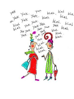 Girl Talk Poster by Karon Melillo DeVega