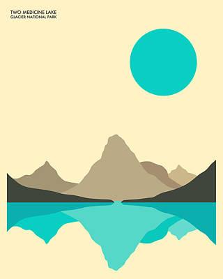 Glacier National Park Poster by Jazzberry Blue