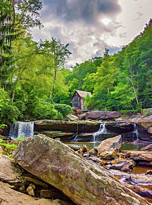 Glade Creek Grist Mill 4 - Paint Poster by Steve Harrington