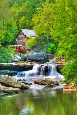 Glade Creek Grist Mill Poster by Darren Fisher