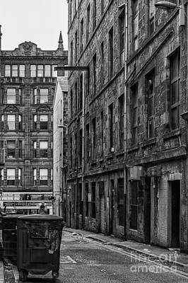 Glasgow Backstreet Monochromatic Poster by Antony McAulay