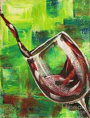 Glass Of Red Poster by Lisa Owen-Lynch