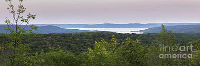 Glen Lake Panorama From The Dunes Poster by Twenty Two North Photography
