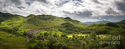 Glenfinnan Viaduct Panorama Poster by Jane Rix